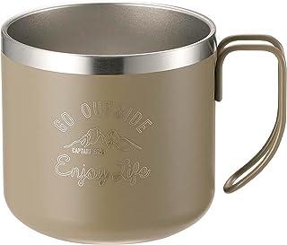 キャプテンスタッグ(CAPTAIN STAG) マグカップ コップ ダブルステンレス 真空断熱 保温・保冷 350ml モンテ