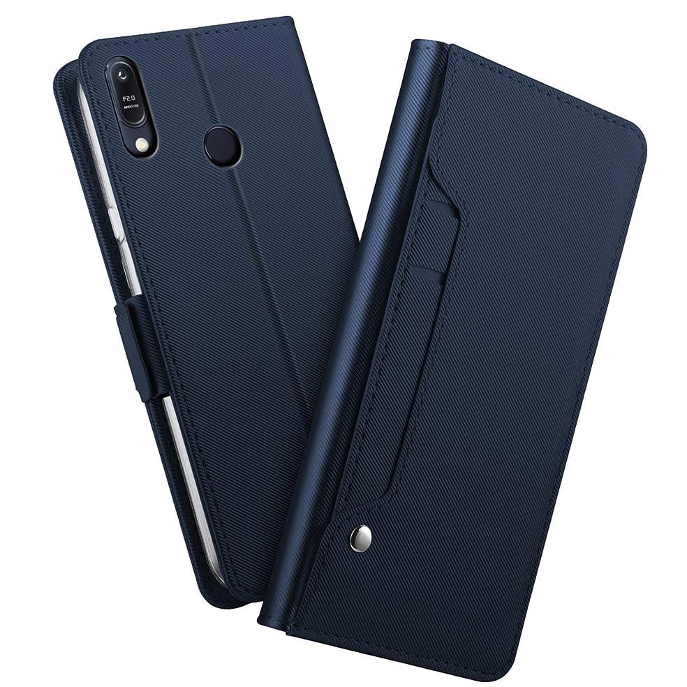 窒素山積みのに勝るAsus Zenfone Max (M2) ZB633KL 財布 シェル, Moonmini [ スタイル ] プレミアム Asus Zenfone Max (M2) ZB633KL カード シェルs 立つ フィーチャー の Asus Zenfone Max (M2) ZB633KL [Blue ]耐久保護ケース フリップ カバー ?と 耐久保護ケース