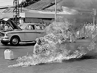 18 x 24 Gallery Wrapped Canvas Framed Print of Buddhist Monk on fire Thich Quang Duc, Burning Himself Death Protest Persecution Buddhists Vietnam
