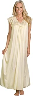 Shadowline Women's Silhouette 53 Inch Short Cap Sleeve Long Gown