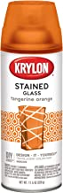 Krylon K09034000 Stained Glass Aerosol Paint, 11.5 Ounces, Tangerine Orange
