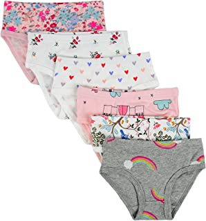 Kids Series Baby Soft Cotton Panties Little Girls' Assorted Briefs(Pack of 6)