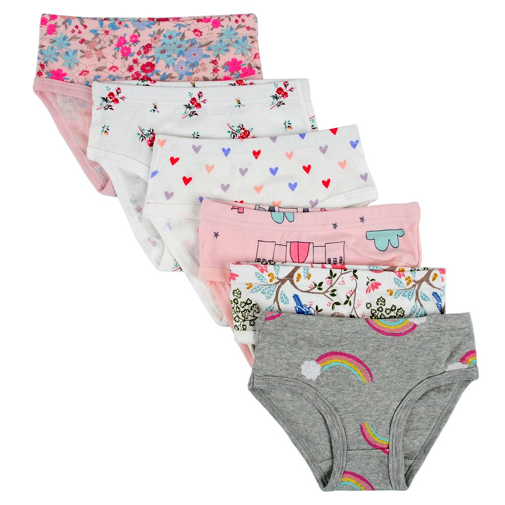 Closecret Kids Series Baby Cotton Panties Little Girls Assorted Briefs Pack of 6