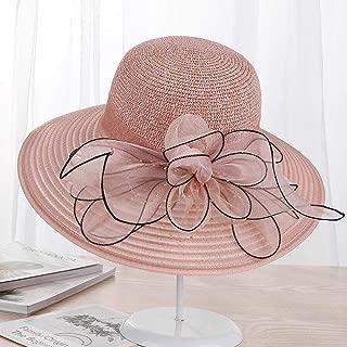 Large Wide Brim Hats Organza Flower Sun Hats Ladies Kentucky Derby Wedding Party Dress Floppy Summer Hats for Women