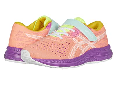 ASICS Kids Pre Excite 7 (Toddler/Little Kid) (Sun Coral/White) Girl