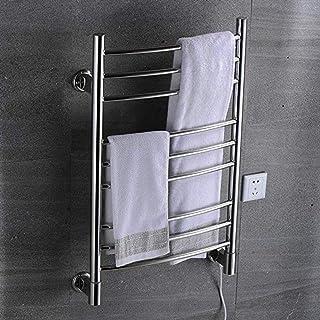 LJP Calentador de Toallero eléctrico de Acero Inoxidable toalleros calefactores Calentadores, toallero de Cuarto de Ducha, Potencia 110W, 110V-240V, para el baño WC