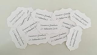 Fantacartando Kit 10 bigliettini bomboniere sagomati graffe per nascita, Battesimo, Prima Comunione, Cresima, laurea, matr...