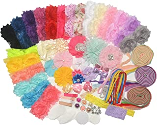 BERON 99 Pcs Headbands and Clips DIY Headand Kit Party Supplies for DIY Hair Bow Maker - Paris Inspired Collection (AIH0235-2)