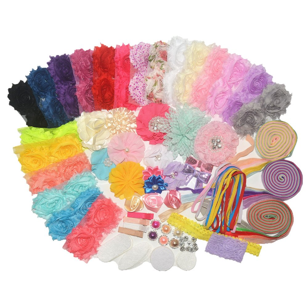 BERON 99 Pcs Headbands and Clips Kit DIY Brand New mail order Cheap Sale Venue Supplies Headand Party