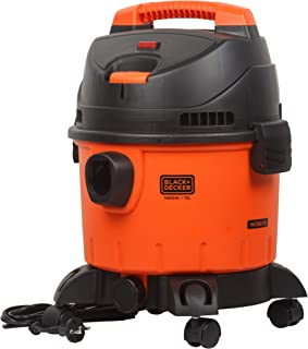 BLACK+DECKER WDBD15 15-Litre, 1400 Watt, 16 KPa High Suction Wet and Dry Vacuum Cleaner and Blower with HEPA Filter and Re...