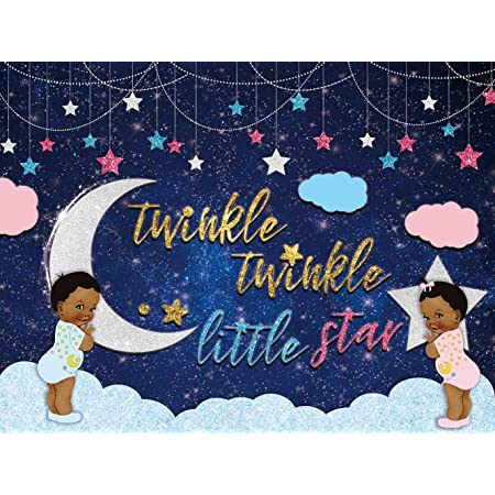 Baby Shower Decoration Twinkle Twinkle Little Star Baby Shower Door Hanger Party Backdrop Flag Star Theme Space Theme Celestial