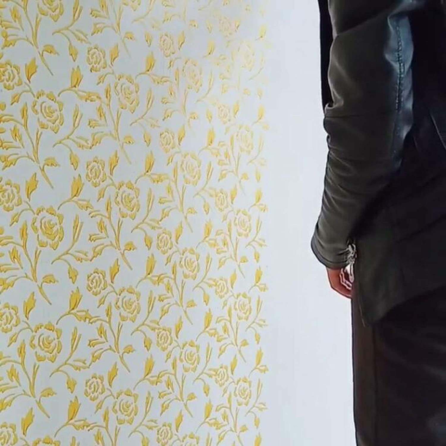HKDJ-7 Pintura En Relieve Manga De Rodillo Textura De Pared Stencil Brush Pattern Decor con Herramienta De Rodillo De Alivio De Mango De Pl/ástico,Single Color