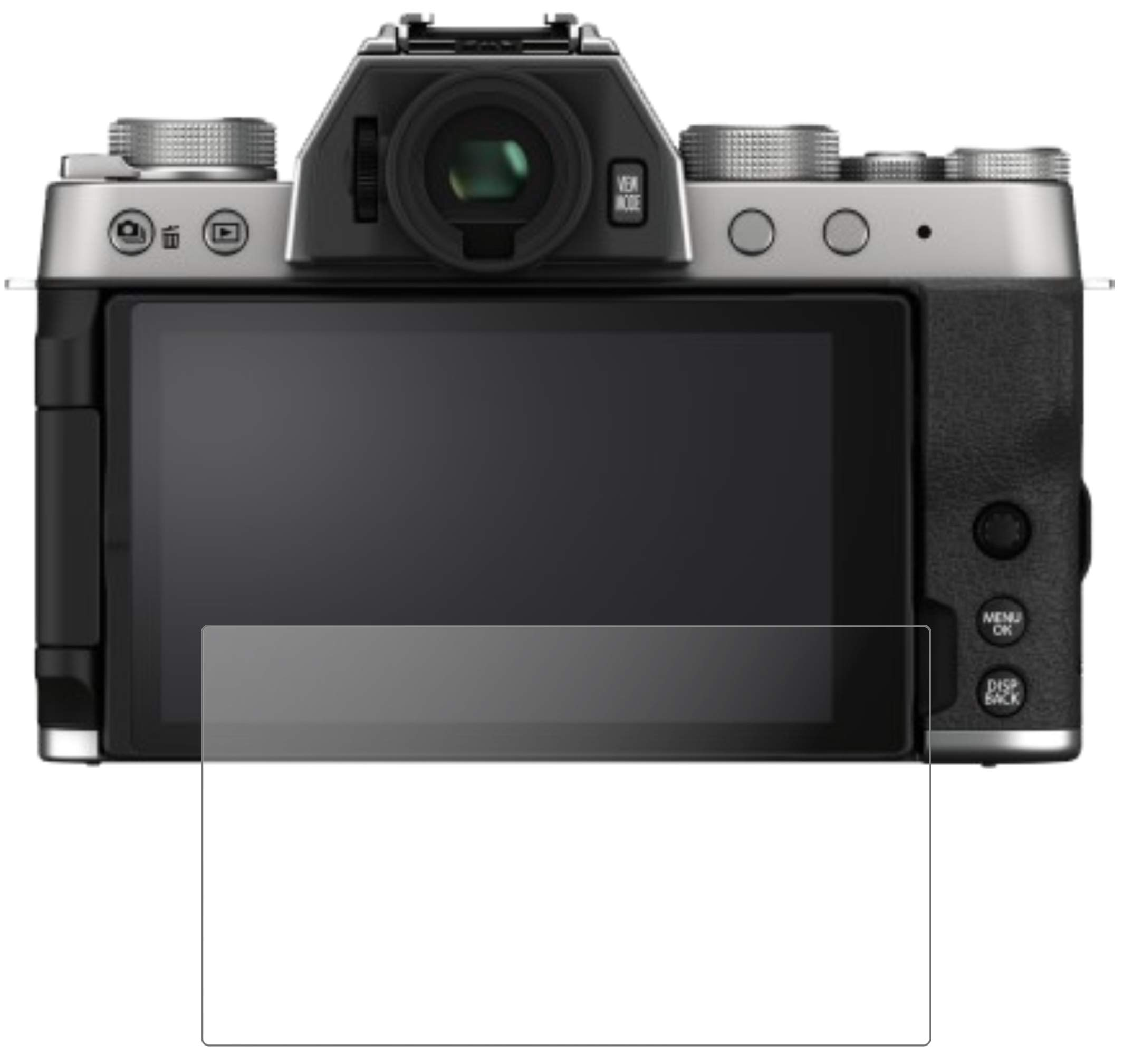 dipos I 2x Screen Protector compatible with Fujifilm X-T200 Flexible Glass 9H Display Protection