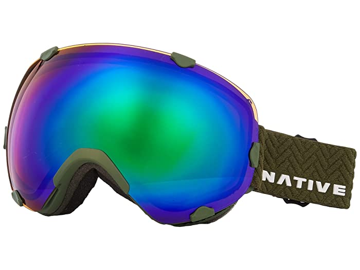 Native Eyewear Spindrift (Snow Tuned Amber Green) Sport Sunglasses