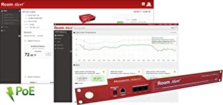 Room Alert 12ER Rack Mountable Temperature & Environment Monitor – Supports 12 External sensors, 24/7 Online & Software alerting and Reporting, Made in The USA