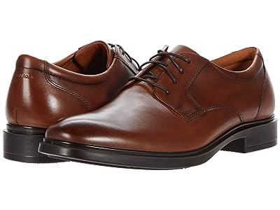 Florsheim Forecast Waterproof Plain Toe Oxford (Cognac Smooth) Men