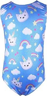 Toddler Girls Cute Gymnastics Skirted Leotards One-Piece Unicorn Floral Sparkly Dance Ballet Tutu Dress for Kids 2-9T