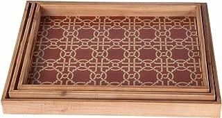 Privilege 88217 Wooden Tray Set, 3-Piece