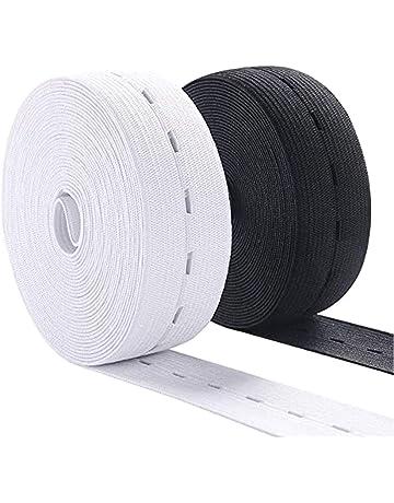 abbigliamento personalizzato Theirsova Cordoncino elastico piatto da 5 mm per maschere artigianato 50 m cuffia doccia fai da te fascia elastica bianca per cucito fai da te