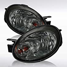 Autozensation For Dodge Neon Replacement Smoke Headlights Front Headlamps Pair Left+Right