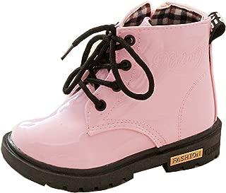 Gaorui Kids Boys Girls Snow Ankle Boots - Children Waterproof Lace Up Zip Pu Martin Boots Toddler Boy Girl Shoes