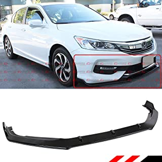 Fits for 2016-2017 Honda Accord JDM GT Style Glossy Black Front Bumper Lip Spoiler Splitter