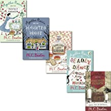 M.C. Beaton Agatha Raisin Collection 5 Books Set, (Haunted House, Curious Curate, Deadly Dance, Perfect Paragon and Love, Lies and Liquor)