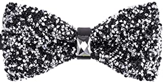Novelty Pre-Tied Bowtie Men's Big Boy Bling Sparkle Rhinestone Banquet Wedding Bow Tie