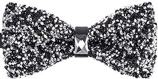 Men's Big Boy Sparkle Rhinestone Bow Tie Novelty Banquet Wedding Pre-Tied Bowtie