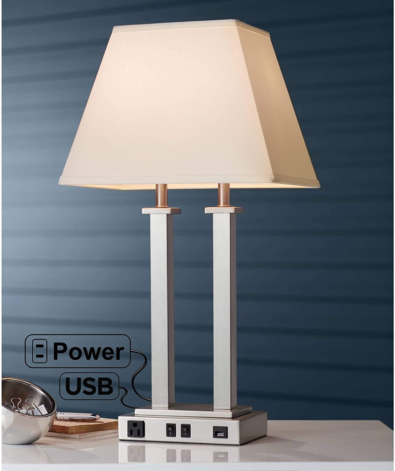 Amity Max 50% OFF Modern Contemporary Table Lamp Super special price with Style Hotel O AC USB