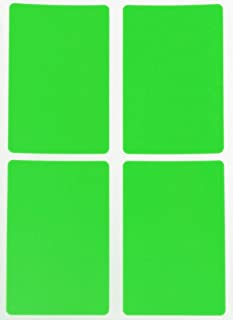 Royal Green Name tag Sticker Labels 3x2 inch - Neon Green Moving Stickers Label 7.5 cm x 5 cm with Strong Glue Extra Sticky - 60 Pack