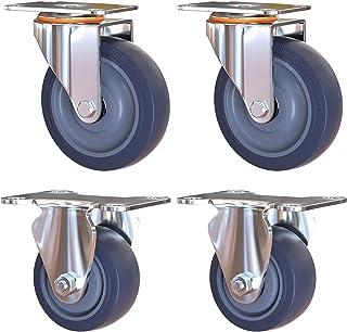 Zwenkwiel, rubberen zwenkwiel, zwaar uitgevoerde zwenkwielen, polyurethaan zwenkwielen Vervanging van metalen zwenkwielen ...