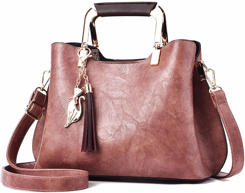 GQFGYYL Handtasche Handtasche Handtasche Lady persönlichkeit Mode einheitlichen umhängetasche,HellRosa B07FQMZ8DS  Moderate Kosten 775904