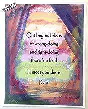 Out beyond ideas 11x14 Rumi poster - Heartful Art by Raphaella Vaisseau