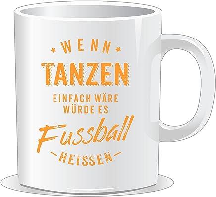 Preisvergleich für getshirts - RAHMENLOS® Geschenke - Tasse - Wenn Tanzen einfach wäre würde es Fussball heissen - orange - uni uni