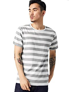 Zbrandy Striped T Shirt for Men Sailor Tee Red White Black Blue Stripes Top Summer Beach
