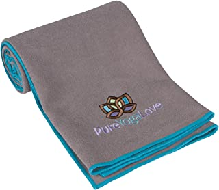 Pure Yoga Love Yoga Towel Super Absorbent, Skidless Improves Mat Grip Reduce Injuries, Machine Wash, Quick Dry, Protect Yo...