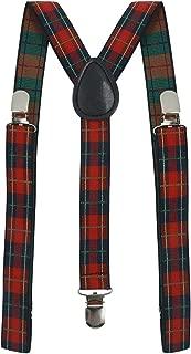 uxcell Unisex Elastic Y Shape Adjustable Printed Suspenders