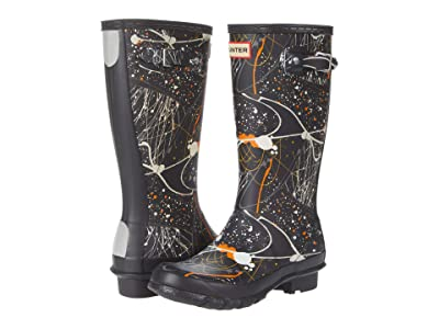 Hunter Kids Original Molecular Splash Print Wellington Boots (Little Kid/Big Kid) (Molecular Splash Hunter Black) Kid