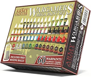 Miniature Painting Kit with 100 Rust-Proof Mixing Balls - Model Paint Set with 60 Non-Toxic Acrylic Paints for Wargamers M...
