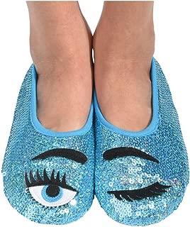 Womens Eye Candy Bling Slipper Socks
