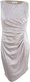 Best calvin klein ruched metallic sheath dress Reviews