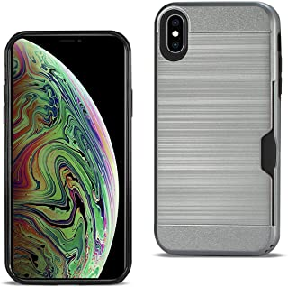 Reiko - iPhone Xs Max Slim Armor Hybrid Case with Card Holder - Gray