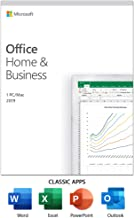 Microsoft office 2019 Home and Business for 1 PC or 1 MAC ( Activation Key Card)