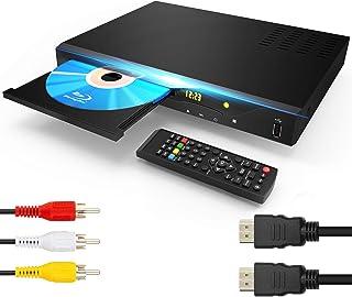 ブルーレイプレーヤー DVD プレーヤー Blu Ray 1080P 高画質 2021最新版 再生可能 ブルーレイ、DVD、CD、USBメモリー TV用DTSサウンドエフェクト、内蔵PALNTSC同軸2.0USB、ブルーレイリージョンA / 1...