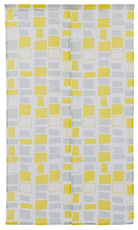 留まる減らす間欠Sunny day fabric のれん ノルディック スクエア 幅85cm x 丈150cm 北欧デザイン コットン100%