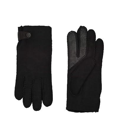 UGG Water Resistant Sheepskin Side Tab Tech Gloves (Black) Extreme Cold Weather Gloves