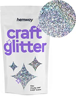 Hemway Craft Glitter 100g 3.5oz Chunky 1/40