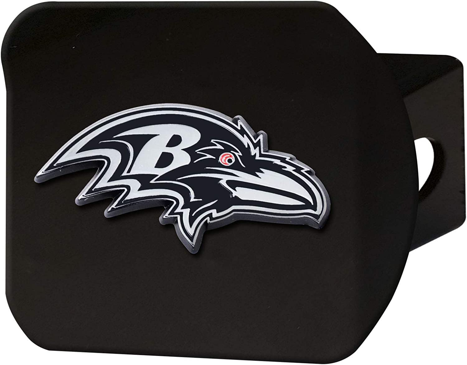 FANMATS NFL Unisex-Adult Metal Hitch Cover