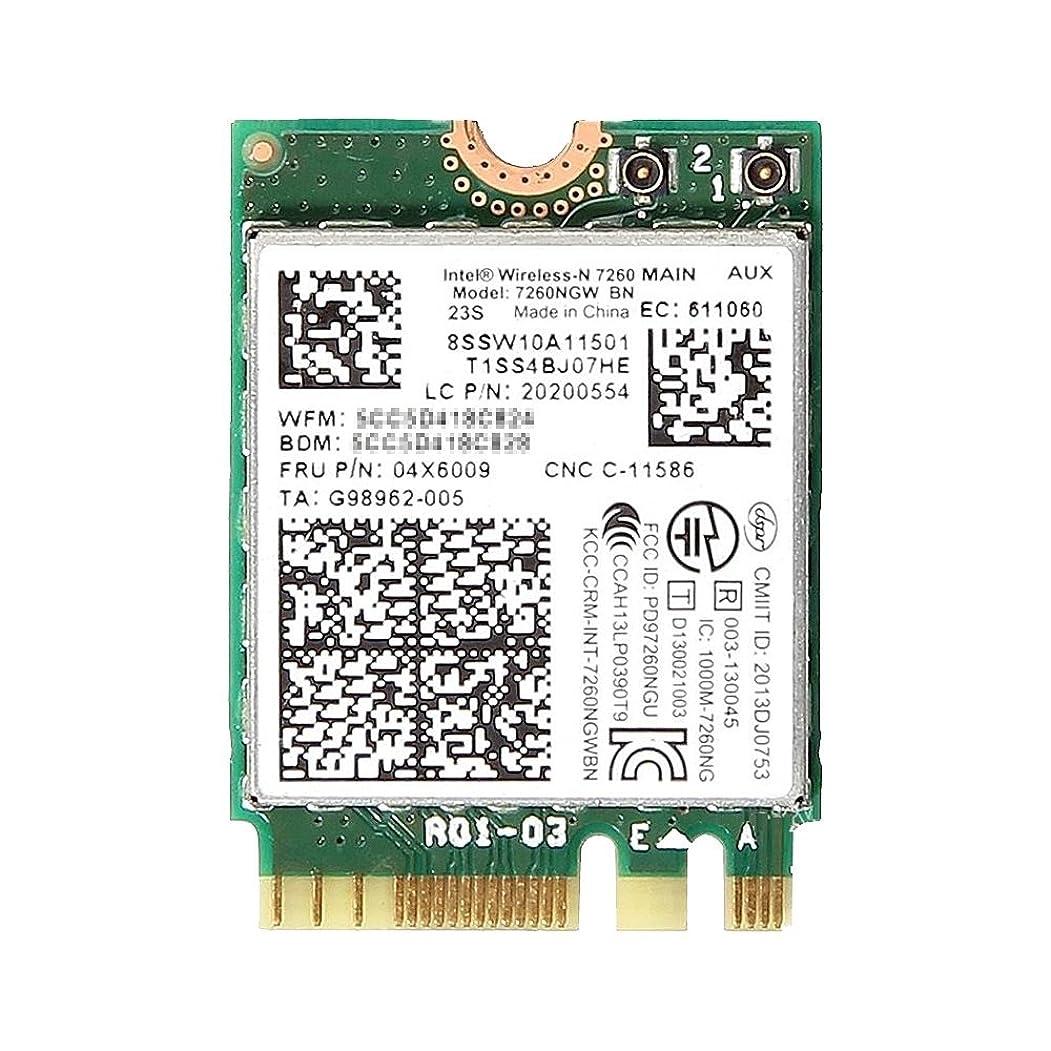 非常にアレンジ巻き戻すLenovo純正 04X6009/04W3830 Intel Wireless-N 7260 802.11b/g/n + Bluetooth 4.0 M.2 無線LANカード 7260NGW BN for Lenovo Thinkpad X240 X240s T440 T440s T440p T540 T540p W540 L440 L540 X1 Carbon lenovo yoga 2 pro